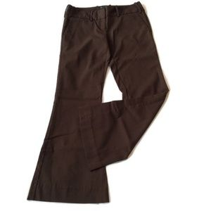 Altered Hemmed Dress Pants 2 P S Flare Boot Brown